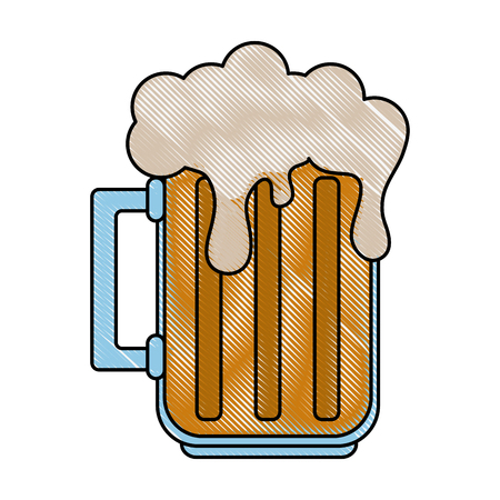 Cold glass beer icon vector illustration graphic design