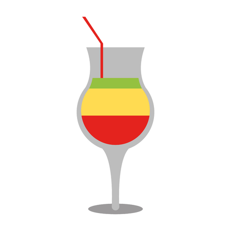 Tropical cocktail drink icon image vector illustration design