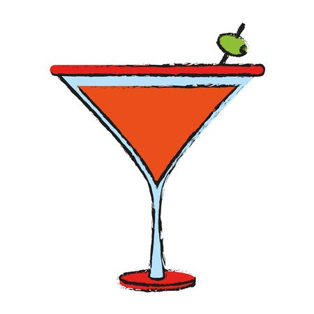 Cocktail night drink icon vector illustration graphic design