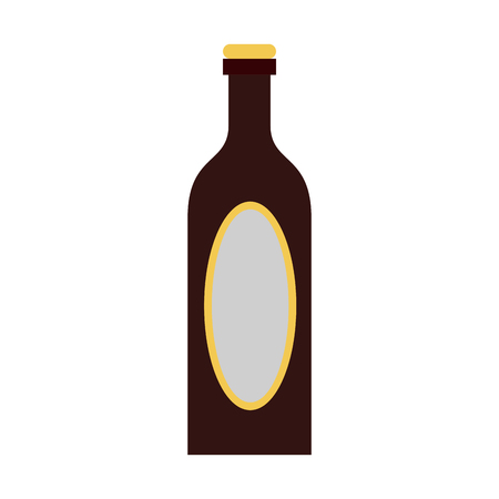 liquor bottle with blank label icon image vector illustration design Illustration