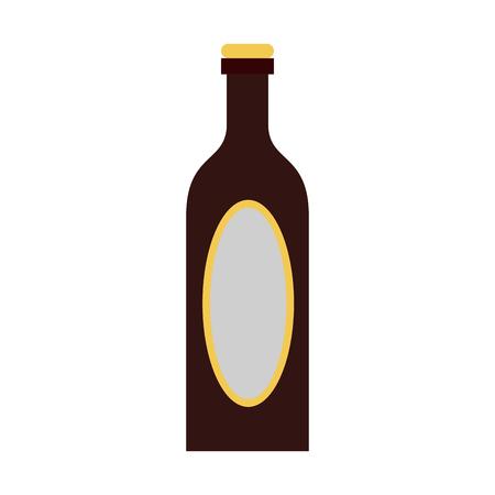 the footstool: liquor bottle with blank label icon image vector illustration design Illustration