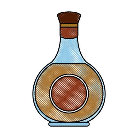 Whisky glass bottle icon  illustration graphic design Illustration