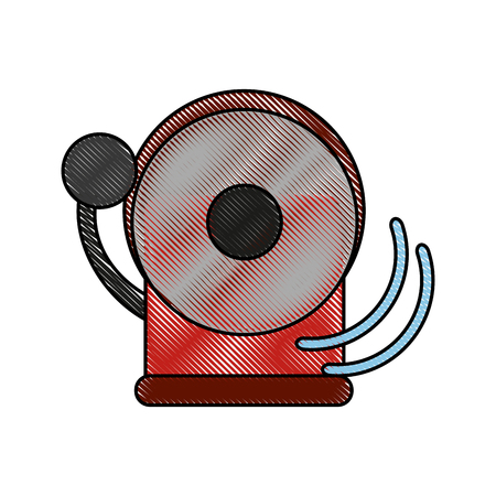 Fire alarm bell icon vector illustration graphic design Illustration