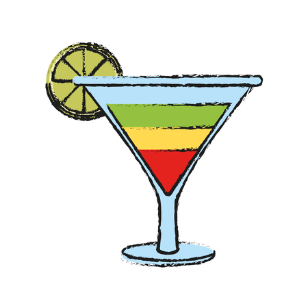 Cocktail drink icon vector illustration graphic design Illustration