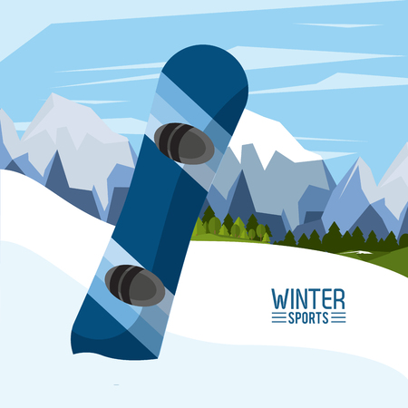 Winter extreme sports icon vector illustration graphic design
