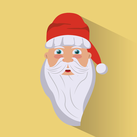 Santa claus cartoon face icon vector illustration graphic design Illustration