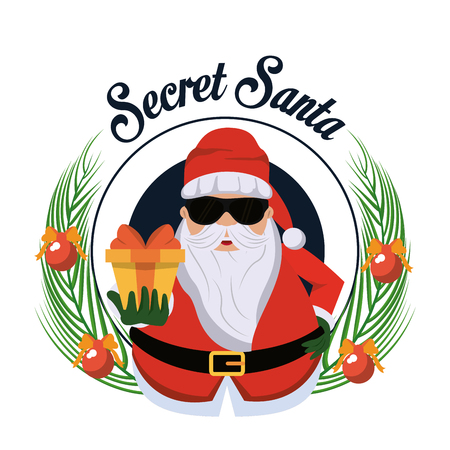 Secret santa cartoon icon vector illustration graphic design