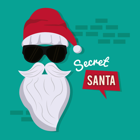 Secret Santa cartoon icon