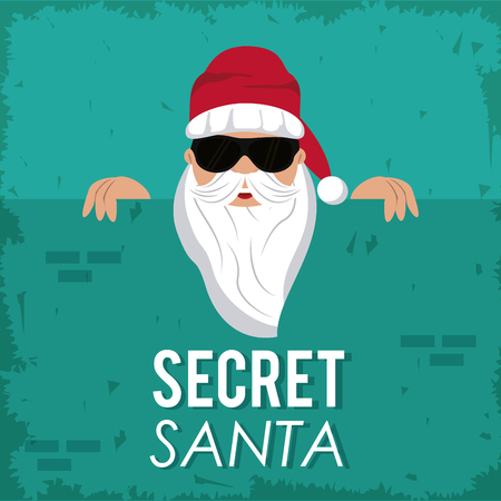 Secret santa cartoon icon vector illustration graphic design 免版税图像 - 88086645