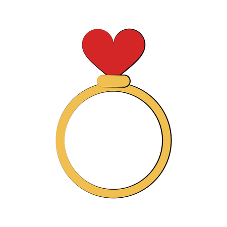 engagement or wedding ring icon image vector illustration design