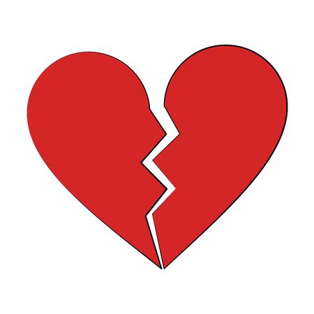 broken heart cartoon icon image vector illustration design