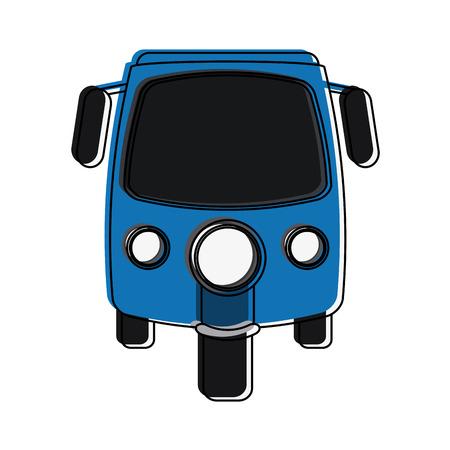 rickshaw or tuk tuk icon image vector illustration design