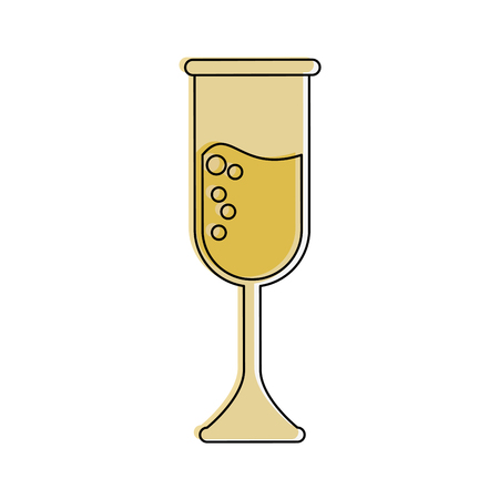 champagne glass icon image vector illustration design  Illustration