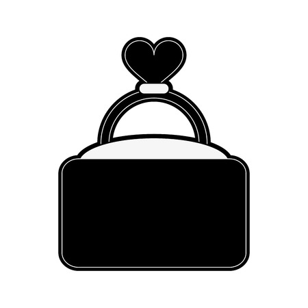engagement or wedding ring icon image vector illustration design  black and white