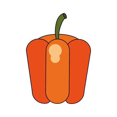 detox: bell pepper vegetable icon image vector illustration design Illustration