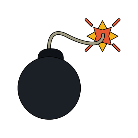 bomb cartoon icon image vector illustration design