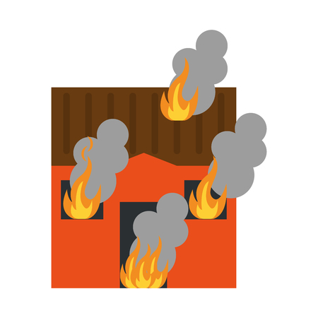 A house on fire icon image vector illustration.