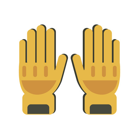 mitten: A gloves protection icon vector illustration.
