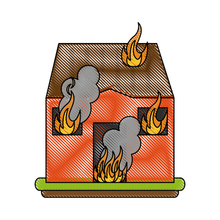 House on fire icon.