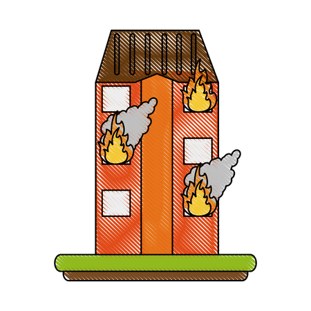 House on fire icon vector illustration graphic design.
