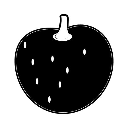 Peach delicious fruit icon vector illustration graphic design