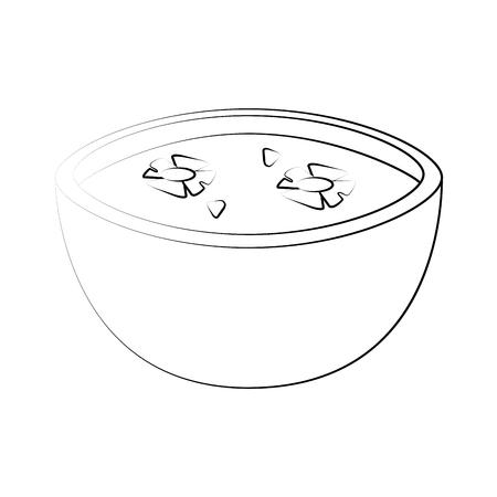 Spa aromatherapy bowl icon vector illustration graphic design