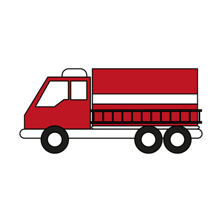 emergency engine: Firefigther truck isolated icon vector illustration graphic design