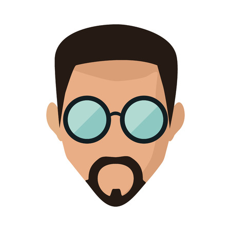 Man face with glasses icon vector illustration graphic design