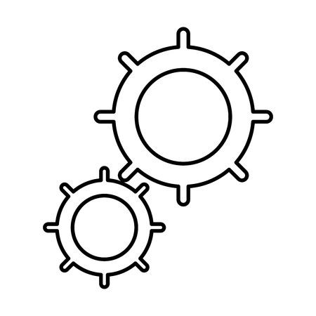 Gears pieces icon design graphic illustration. Illustration