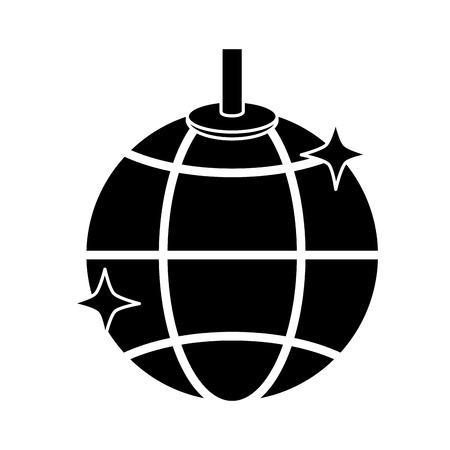 Disco ball lights icon.