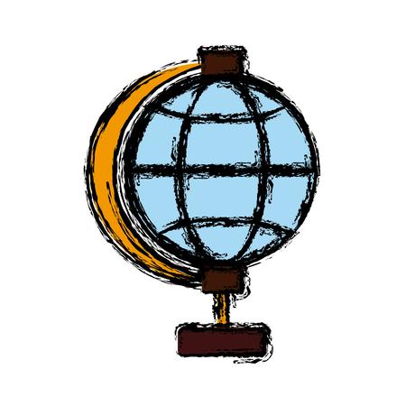 business graphics: Global sphere symbol icon vector illustration graphic design Illustration