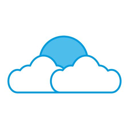 Sun and cloud symbol icon. Illustration