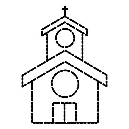 교회 건물 기호 아이콘 그림 그래픽 디자인입니다.