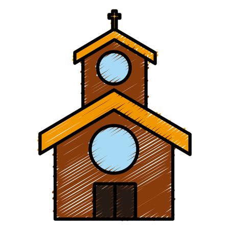 교회 건물 기호 아이콘입니다. 일러스트