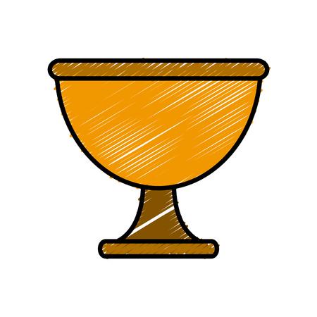 Chalice cup symbol icon.