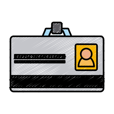 ID business card icon vector illustration graphic design