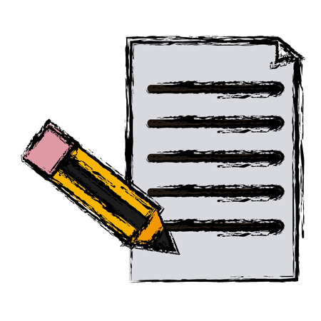 Document and pencil icon vector illustration graphic design
