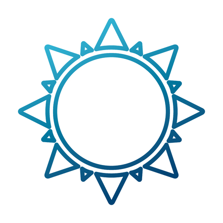 Sun isolated symbol icon. Illustration