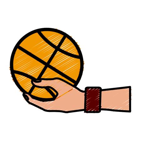Basketball ball isolated icon.