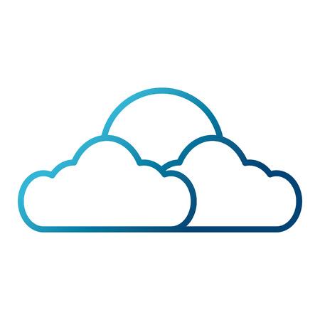 Sun and cloud symbol icon vector illustration graphic design