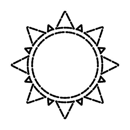 Sun isolated symbol icon vector illustration graphic design