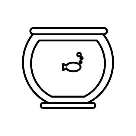 Fish in bowl icon illustration graphic design.