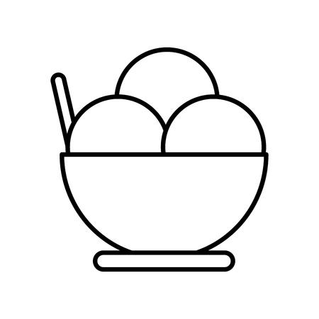 Ice cream cup icon vector illustration graphic design Illustration