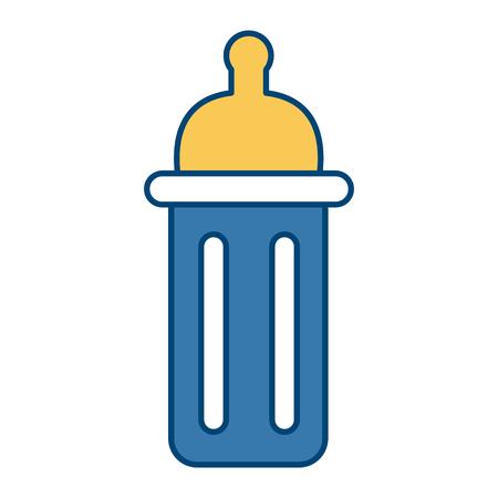 Feeding bottle isolated icon illustration graphic design. Illustration