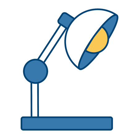 Desk light lamp icon.