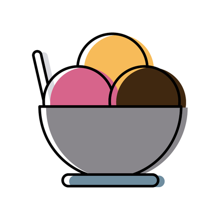 Ice cream cup icon.