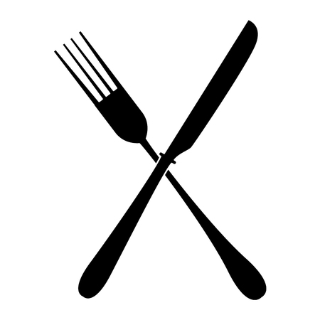 Fork kitchen cutlery icon vector illustration graphic design Ilustração