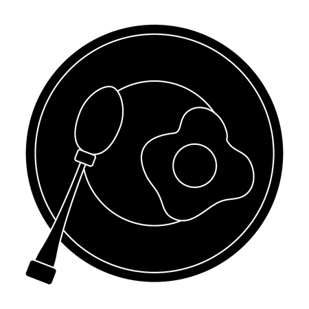 Dish and cutlery icon vector illustration graphic design