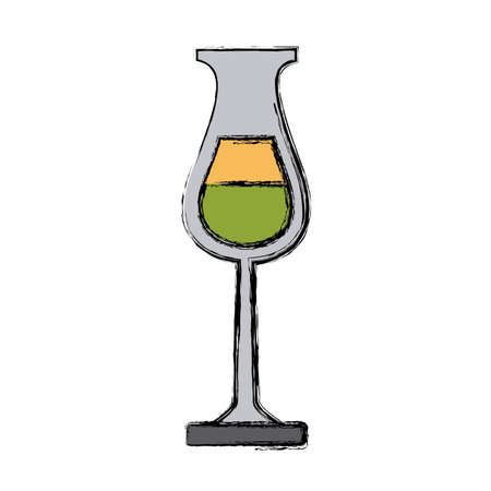modern kitchen: Glass cup isolated icon.