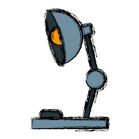 bedtime story: Desk light lamp icon.
